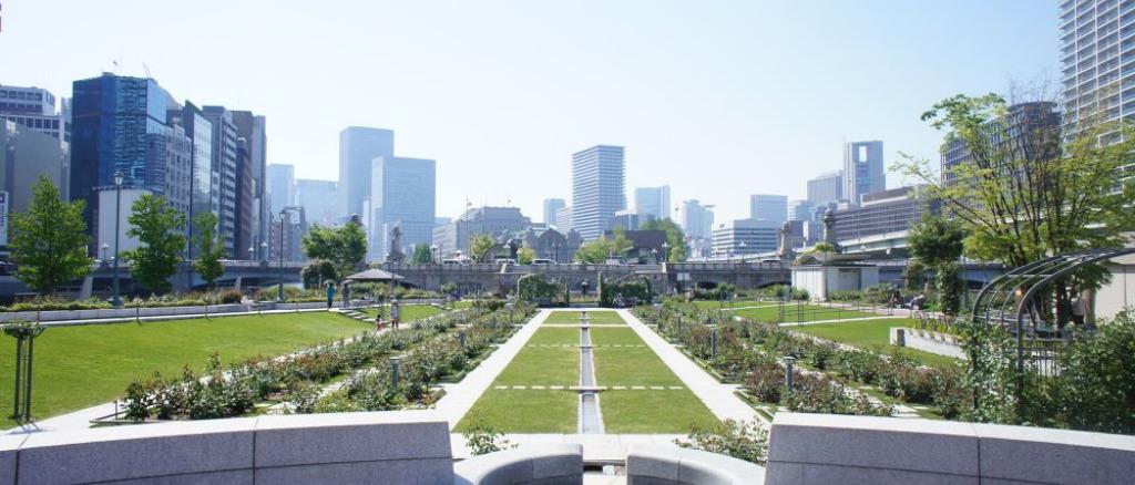 大阪市内の人気ランニングコース(中之島のランニングコース)